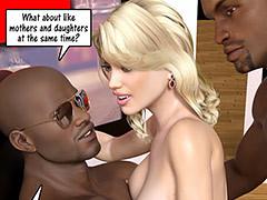 woman black black