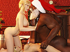 Mom and me fuck black Santa Claus that..